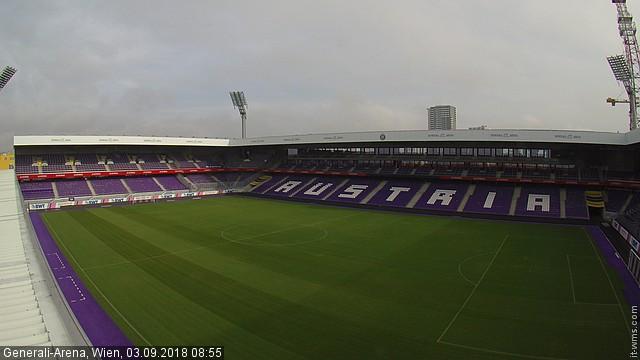 Irgend etwas stimmt nicht. Hier sollte ein Livebild Webcam Laaerberg Generali Arena Stadion sein.